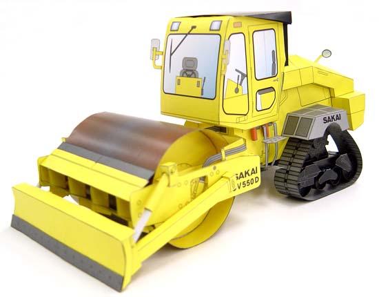 Maqueta 3D de la apisonadora SKAI CV550D. Manualidades a Raudales.