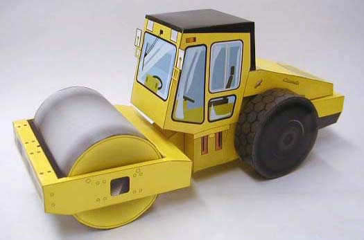 Papercraft imprimible y armable de la Apisonadora / Steamroller SV510D-1. Manualidades a Raudales.