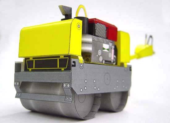 Papercraft imprimible y armable de la Apisonadora / Steamroller HV60ST. Manualidades a Raudales.