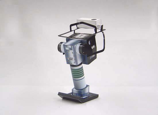 Papercraft imprimible y armable de la Apisonadora Manual / Manual Steamroller RS65. Manualidades a Raudales.